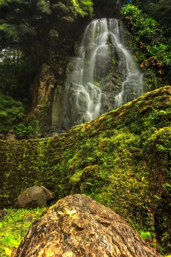 Waterfall at Ribeira dos Caldeiros