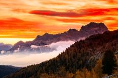 Intensive sunrise