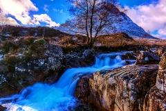 Wild blue cascades