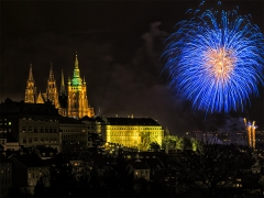 Prague\'s New Eve Firework 2014