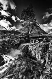 Wild cascades (b&w)
