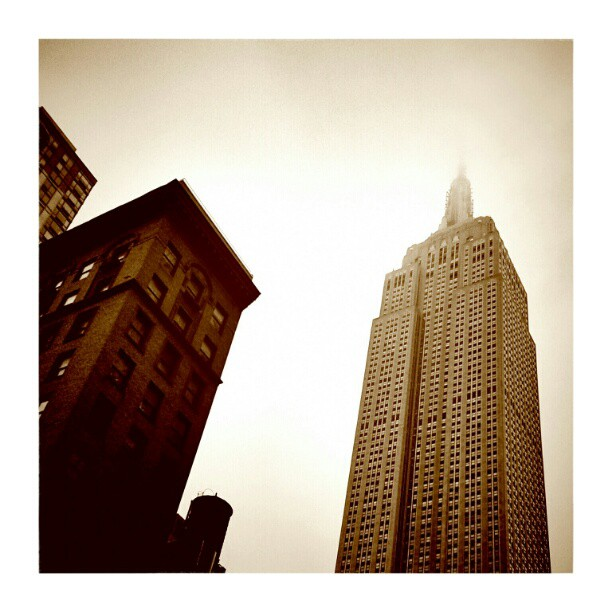 Mist over Empire State Building - from Instagram
