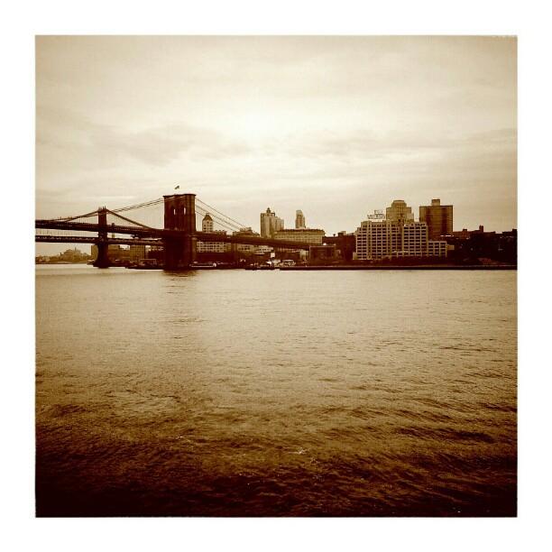 Brooklyn #Bridge#instamood #instatweet #tweegram #cityscape #ratemygram #nyc #newyork #sepia #manhattan # Brooklyn #river - from Instagram