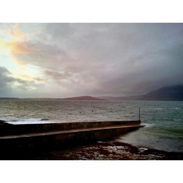 Harbor in storm - from Instagram