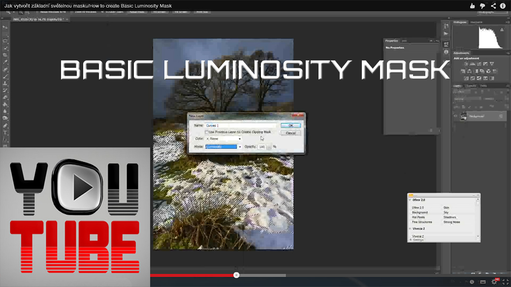 How to create Basic Luminosity Mask