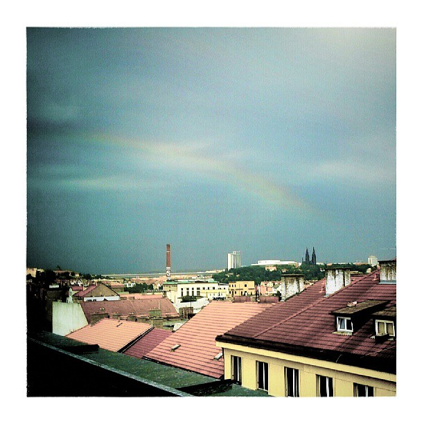 Rainbow over Prague – from Instagram