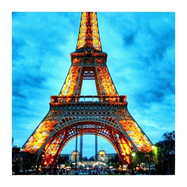 Shining Eiffel Tower – from Instagram